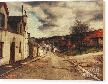 A Cotswold Village Wood Print by Lianne Schneider