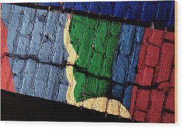 A Crack Runs Through It - Urban Rainbow Wood Print by Steven Milner