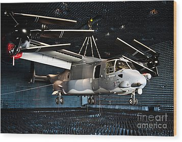 A Cv-22 Osprey Hangs In A Anechoic Wood Print by Stocktrek Images
