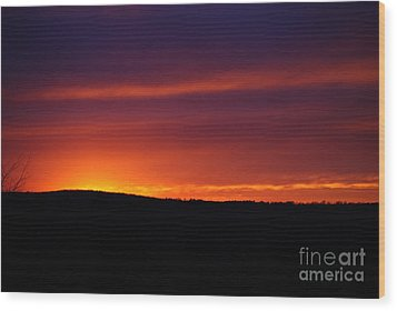 Wood Print featuring the photograph A Day Almost Ended by Julie Clements
