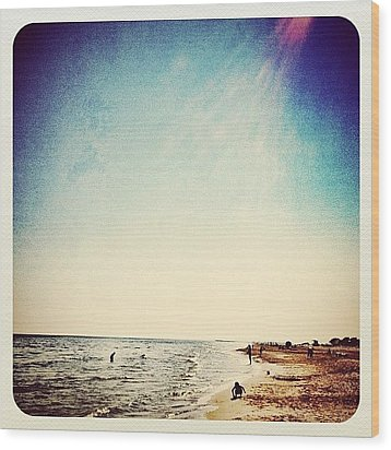 A Day At The #beach 2 Months Ago Wood Print by Wilbert Claessens