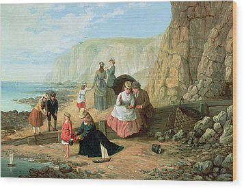 A Day At The Seaside Wood Print by William Scott