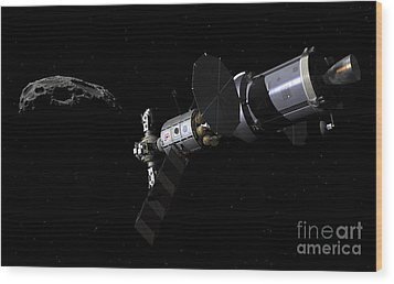 A Deep Space Mission Vehicle Wood Print by Walter Myers