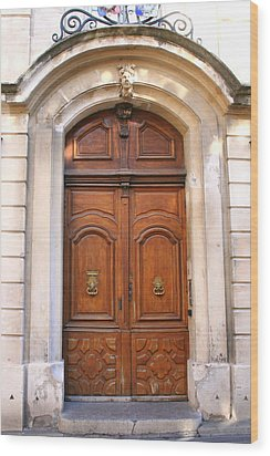 Wood Print featuring the photograph A Door In Arles by Laurel Talabere