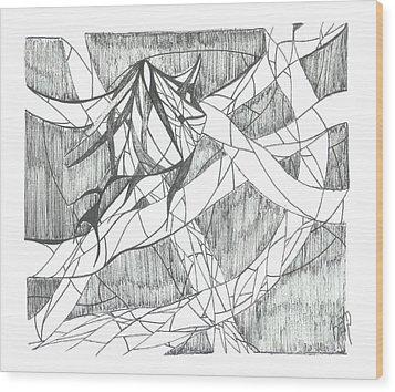 A Fish Wood Print by Robert Meszaros