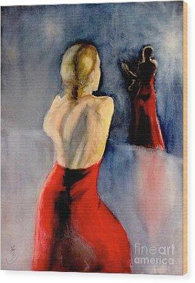 A Flamenco Dancer  3 Wood Print by Yoshiko Mishina