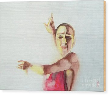 A Flamenco Dancer Wood Print by Yoshiko Mishina