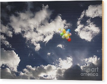 Wood Print featuring the digital art A Flight From Drama by Rosa Cobos