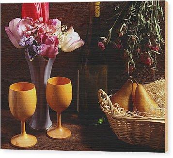 A Floral Display Wood Print by David Chapman