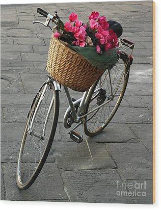A Flower Delivery Wood Print by Vivian Christopher