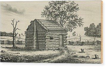 A Frontier Presbyterian Church. The Log Wood Print by Everett
