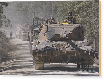 A German Designed Leopard As1 Gun Tank Wood Print by Stocktrek Images