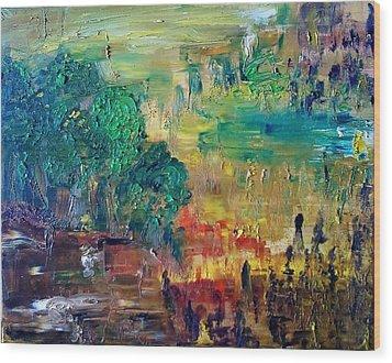 A Glade In The Woods Wood Print by Derya  Aktas