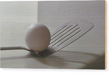 A Good Egg Wood Print
