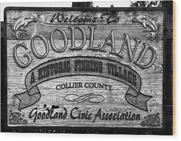 A Goodland Wood Print by David Lee Thompson