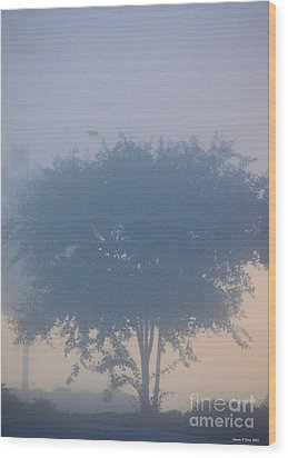 A Gothic Silhouette Wood Print by Maria Urso