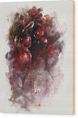 A Grape Mystery Wood Print by Rachel Christine Nowicki