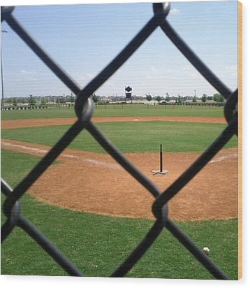 A Great Day For Tball #sports #diamond Wood Print by Kel Hill