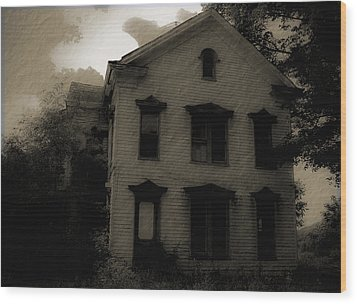 A Haunting Wood Print by DigiArt Diaries by Vicky B Fuller