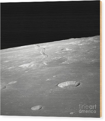 A High Forward Oblique View Of Rima Wood Print by Stocktrek Images