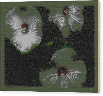 A Hint Of Hibiscus Wood Print by Rene Crystal