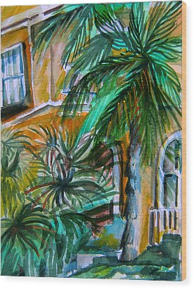 A Hotel In Sorrento Italy Wood Print by Mindy Newman