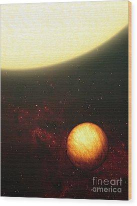 A Jupiter-like Planet Soaking Wood Print by Stocktrek Images