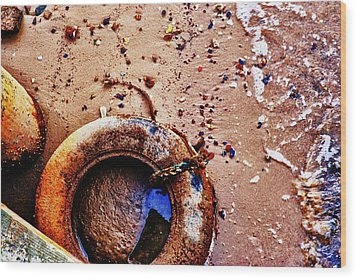 Wood Print featuring the photograph A Life Ring by Kelly Reber