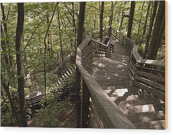 Wood Print featuring the photograph A Long Way Down by Jeannette Hunt