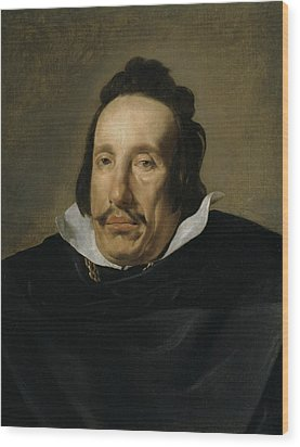 A Man Wood Print by Diego Rodriguez de Silva y Velazquez