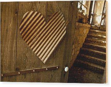 A  Man's Heart Wood Print