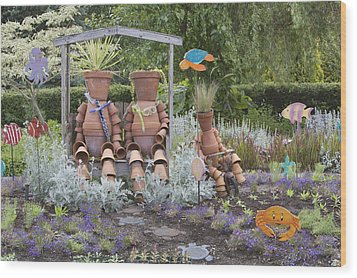 A Marine Garden Area In The Childrens Wood Print by Douglas Orton