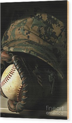 A Marines Athletic Gear Wood Print by Stocktrek Images
