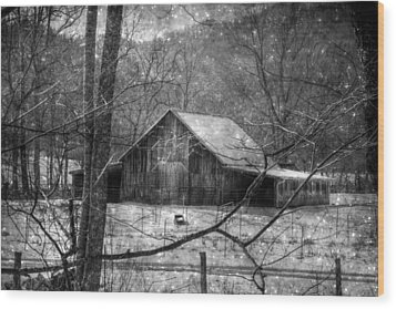 A Memory In Black And White Wood Print by Christine Annas