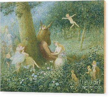 A Midsummer Night's Dream Wood Print by HT Green