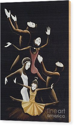 A Mime To Praise Wood Print by Frank Sowells Jr