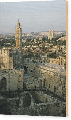 A Minaret In The Muslim Quarter Wood Print by Joel Sartore