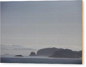 A Misty Afternoon On Haida Gwaii Wood Print by Taylor S. Kennedy