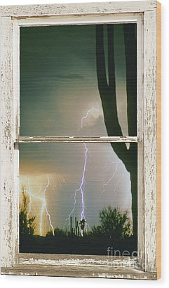 A Moment In Time Rustic Barn Picture Window View Wood Print by James BO  Insogna