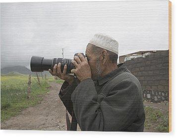 A Muslim Rural Resident Looks Wood Print by David Evans