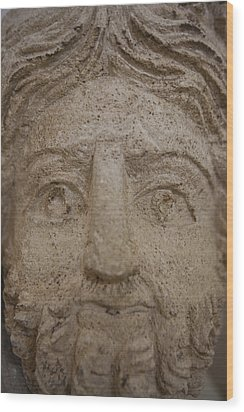 A Nabatean Bust Of Atargatis Wood Print by Taylor S. Kennedy