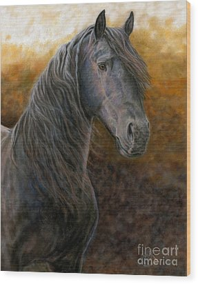 Wood Print featuring the painting A Natural Beauty by Sheri Gordon