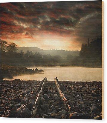 A New Beginning Wood Print by Ian David Soar