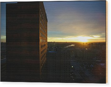 Wood Print featuring the photograph A New Day Begins Calgary Alberta by JM Photography