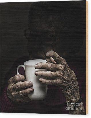 A Nice Cup Of Tea Wood Print by Avalon Fine Art Photography