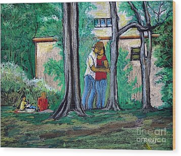 A Nice Day In Dominion Square  Wood Print by Reb Frost
