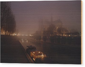 A Night View Across The Seine Towards Wood Print by James L. Stanfield
