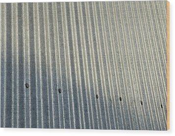 A Piece Of Metal Sheeting At A Sawmill Wood Print by Joel Sartore