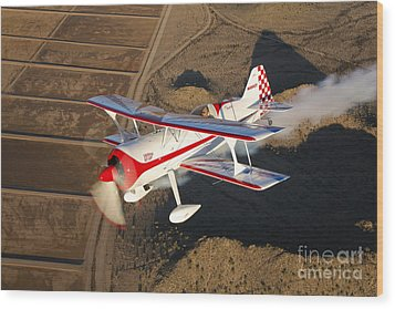 A Pitts Model 12 Aircraft In Flight Wood Print by Scott Germain