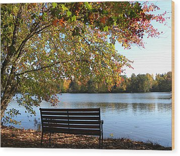 A Place For Thanks Giving Wood Print by Sandi OReilly
